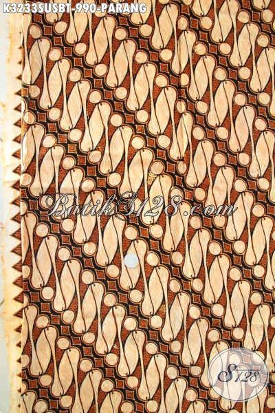Jual Kain Batik Sutra Super, Batik Halus Kombinasi Tulis Motif Parang Klasik, Cocok Untuk Pakaian Formal Mewah Dan Berkelas