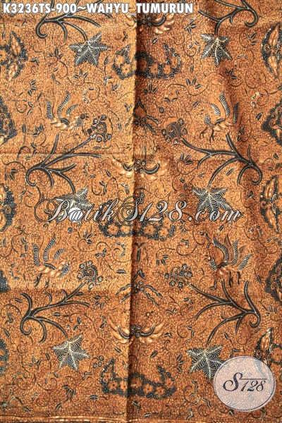 Jual Online Kain Batik Premium Proses Tulis, Batik Jawa Tengah Halus Motif Wahyu Tumurun, ELegan Untuk Baju Kerja Dan Rapat Resmi [K3236TS-240cmx110cm]