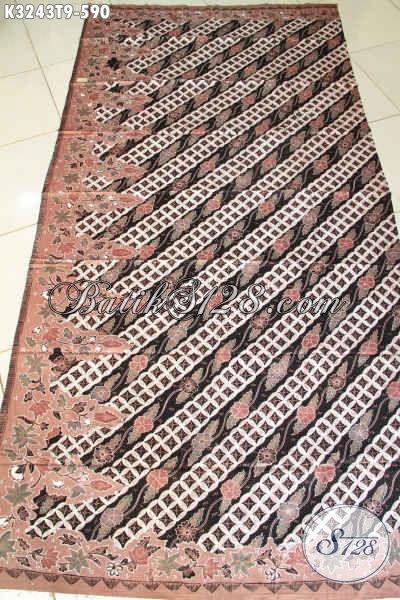 Jual Online Kain Batik Mewah Bahan Busana Kerja Pria Wanita, Batik Solo Klasik Halus Tulis Tangan Asli Harga 590K