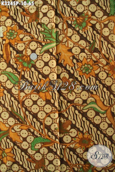 Kain Batik Solo Motif Modern Klasik, Batik Halus Printing Yang Cocok Untuk Busana Santai Dan Formal Harga 60 Ribuan [K3245P-200x115cm]