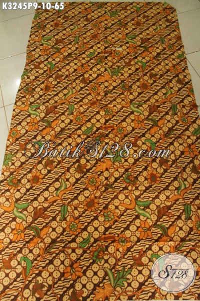 Jual Online Kain Batik Printing Solo Elegan, Batik Halus Warna Klasik Motif Trendy, Cocok Untuk Seragam Kerja Nan Modis Dan Berkelas