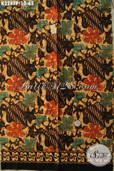 Koleksi Terbaru Batik Kain Proses Printing, Batik Halus Motif Bagus Pas Untuk Busana Wanita Maupun Pria Harga 65K [K3247P-200x115cm]
