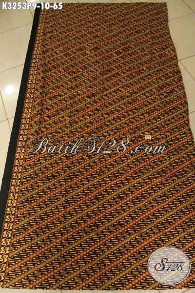 Batik Kain Klasik Motif Parang, Batik Printing Halus Khas Jawa Tengah Bahan Pakaian Formal Nan Berkelas, Di Jual Online 65K [K3253P-200x115cm]