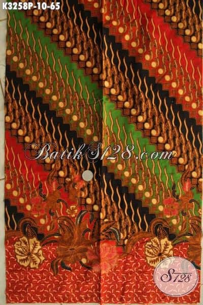 Batik Kain Elegan Motif Mewah Bahan Busana Resmi Nan Berkelas Proses Printing, Di Jual Online 65 Ribu Saja
