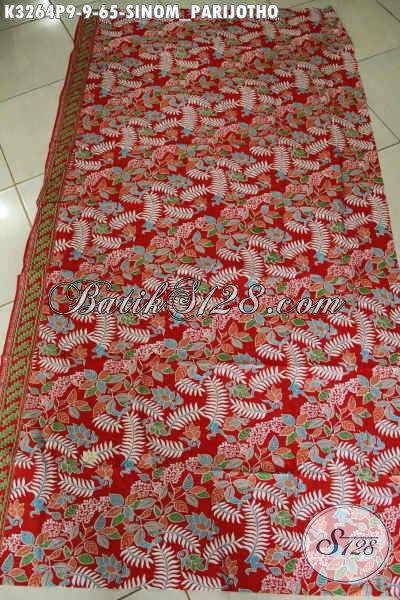 Agen Kain Batik Paling Up To Date, Sedia Batik Halus Motif Sinom Parijotho, Batik Solo Halus Proses Printing Harga 65K [K3264P-200x115cm]