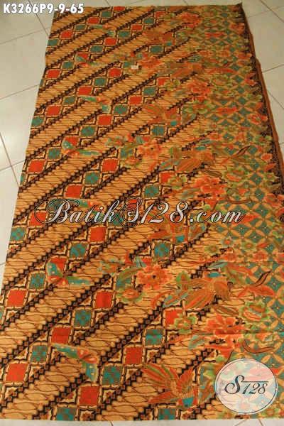Batik Kain Halus Motif Klasik Dengan Sentuhan Modern, Batik Printing Solo Tren Masa Kini, Pas Buat Busana Kerja Dan Rapat [K3266P-200x115cm]