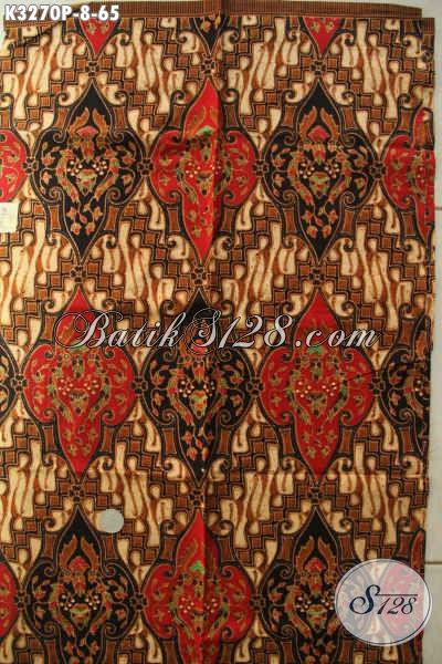 Produk Kain Batik Solo 2018, Batik Halus Proses Printing Bahan Busana Resmi Nan Elegan Hanya 65K [K3270P-200x115cm]