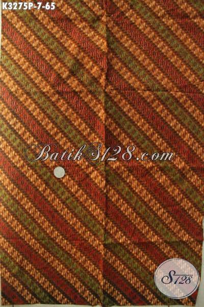 Pusat Batik Solo Online, Jual Kain Batik Klasik Terbaru Bahan Aneka Busana Resmi Wanita Dan Pria Harga 60 Ribuan Saja [K3275P-200x115cm]
