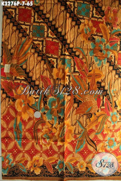 Jual Produk Kain Batik Klasik Dengan Sentuhan Modern, Batik Solo Asli Kwalitas Istimewa Harga Biasa, Cocok Untuk Pakaian Kerja Pria Wanita Kantoran [K3276P-200x115cm]