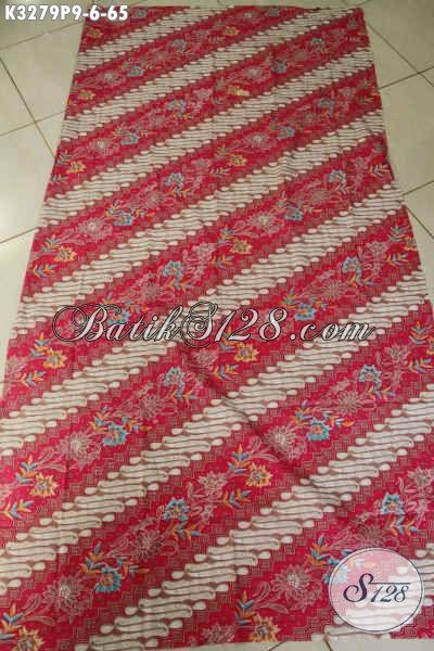 Batik Kain Motif Parang Bunga, Kain Batik Solo Masa Kini Proses Printing Bahan Pakaian Elegan Dan Berkelas Hanya 60 Ribuan Saja