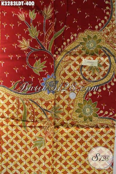 Pusat Online Produk Batik Solo, Jual Kain Batik Pola Kemeja Pria Lengan Pendek Motif Mewah Proses Tulis Harga 400 Ribu