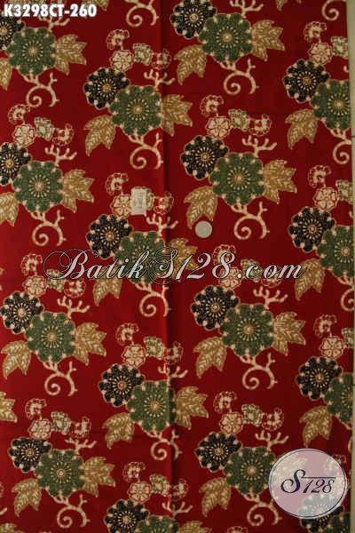 Jual Kain Batik Motif Mewah, Batik Solo Elegan Terkini Bahan Adem Kwalitas Premium Proses Cap Tulis, Cocok Untuk Busana Formal