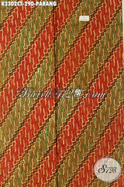 Produk Batik Kain Motif Parang Klasik, Batik Solo Asli Proses Cap Tulis Elegan Untuk Baju Kondangan Dan Berkelas Untuk Busana Kondangan