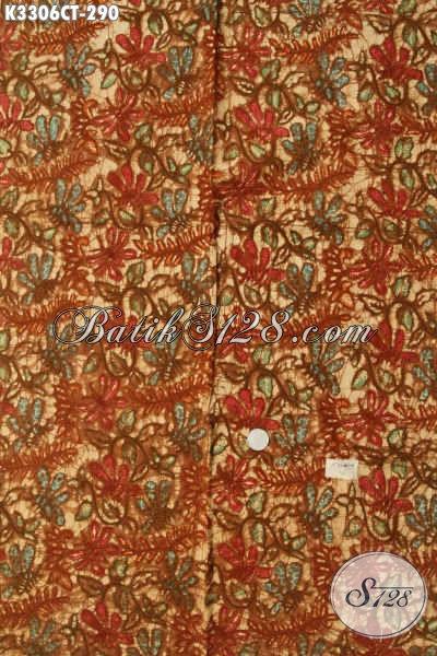 Batik Kain Solo Elegan Motif Mewah, Batik Cap Tulis Istimewa Kwalitas Bagus Cocok Untuk Busana Wanita Dan Pria Yang Ingin Tampil Mempesona Hanya 290K [K3306CT-240x110cm]