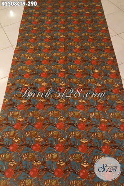 Pusat Batik Solo Online Terlengkap, Sedia Kain Batik Elegan Bahan Busana Berkelas Proses Cap Tulis, Cocok Untuk Pakaian Pria Dan Wanita Kantoran [K3308CT-240x110cm]