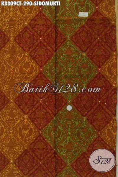 Kain Batik Klasik Motif Sidomukti, Batik ELegan Mewah Proses Cap Tulis, Bahan Busana Pria Nan Elegan Dan Berkelas, Pas Buat Rapat Dan Acara Formal