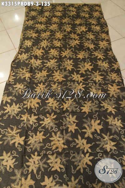 Kain Batik Bahan Dolby Motif Terbaru Proses Printing Cabut, Batik Solo Halus Cocok Untuk Busana Kerja Dan Jalan-Jalan Harga 135K [K3315PBDB-240x110cm]