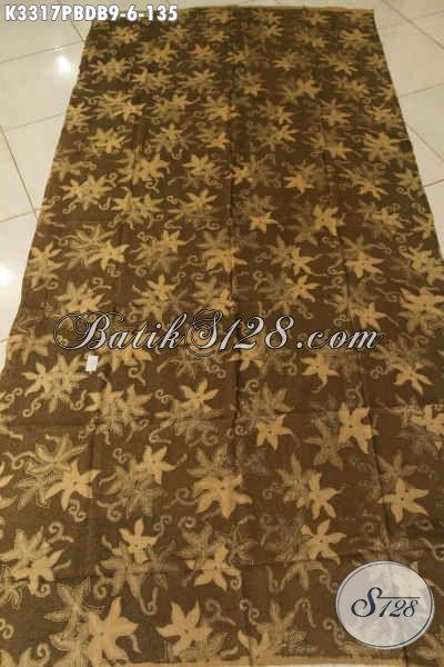 Kain Batik Solo Bahan Doby, Batik Motif Keren Proses Printing Cabut Cocok Untuk Busana Santai Harga 135K [K3317PBDB-240x110cm]