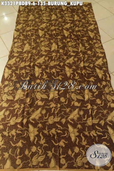 Agen Batik Online Sedia Batik Solo Halus Bahan Dolby, Kain Batik Motif Burung Kupu Kwalitas Bagus Pas Untuk Pakaian Wanita Dan Pria Yang Kekinian