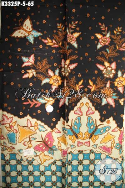 Kain Batik Printing Halus Motif Elegan Berkelas Bahan Busana Wanita, Batik Solo Terkini Bahan Seragam Kerja Kwalitas Bagus Harga Murmer