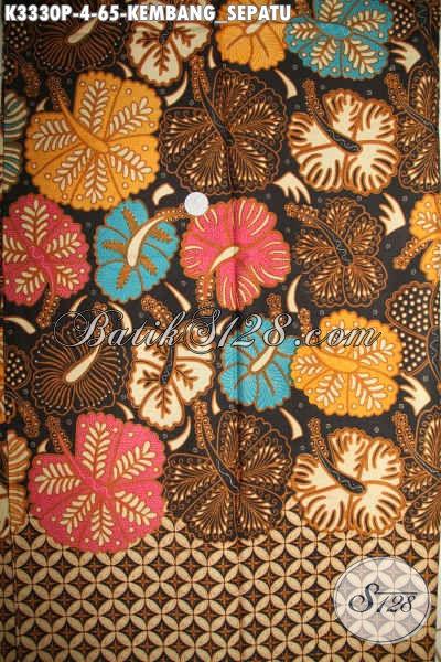 Produk Batik Kain Terkini, Hadir Dengan Motif Kembang Sepatu Proses Printing Halus Khas Jawa Tengah, Cocok Untuk Busana Kerja Pria Dan Wanita Penampilan Lebih Mempesona