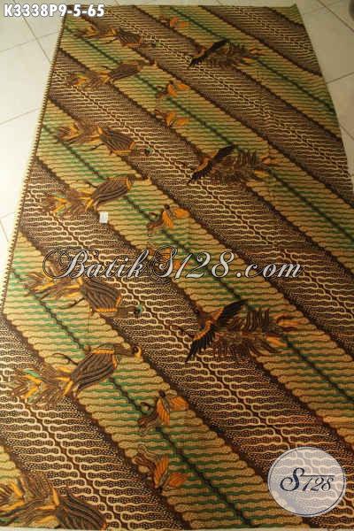 Jual Kain Batik Motif Burung Kombinasi Motif Parang, Batik Elegan Halus Proses Printing, Cocok Banget Untuk Busana Formal Nan Istimewa Hanya 65K, Pas Untuk Busana Kondangan Dan Rapat