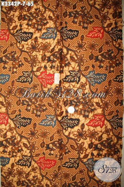 Agen Batik Online Paling Up To Date, Sedia Kain Batik Solo Halus Motif Bagus Nan Elegan Proses Printing Hanya 65K, Cocok Untuk Busana Kerja Dan Acara Resmi [K3342P-200x110cm]