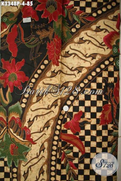 Kain Batik Solo Terbaru, Kain Batik Printing Motif Mewah Kwaitas Halus Bahan Busana Pria Muda Dan Dewasa Untuk Penampilan Tampan Dan Macho