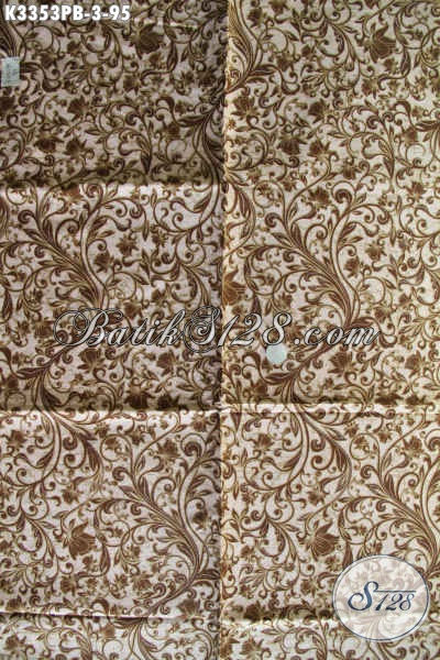 Kain Batik Batik Bahan Busana Kwalitas Halus Proses Kombinasi Tulis, Batik Jawa Tengah Terkini Cocok Untuk Busana Kerja Kantoran