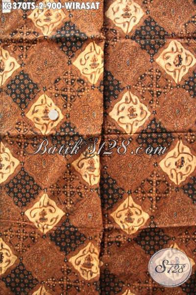 Kain Batik Klasik Bahan Jarik, Batik Solo Tulis Soga Nan Mewah Motif Wirasat, Cocok Banget Untuk Seserahan