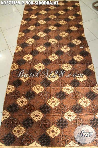 Kain Batik Jarik Premium Buatan Solo, Batik Klasik Elegan Motif Sidodrajat Proses Tulis Soga, Mewah Untuk Busana Adat Jawa