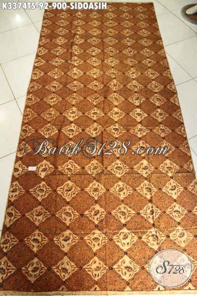 Jual Batik Jarik Sidoasih, Batik Mewah Halus Proses Tulis Soga Harga Mahal, Cocok Untuk Acara Dan Busana Adat Jawa Tengah