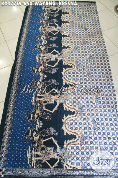 Toko Batik Online Terlengkap, Sedia Batik Tulis Asli Bahan Busana  Pria Motif Wayang Kresna Nan Elegan Dan Berkelas [K3377T-240x105cm]