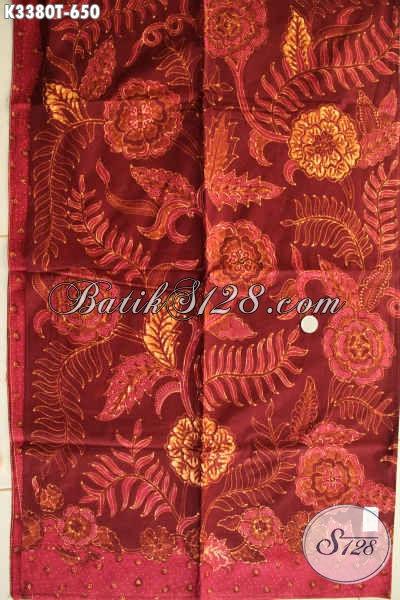 Kain Batik Mewah Bahan Busana Kerja, Batik Tulis Premium Untuk Busana Formal Berkelas, Batik Kain Istimewa Khas Jawa Tengah Motif Bagus Hanya 650K