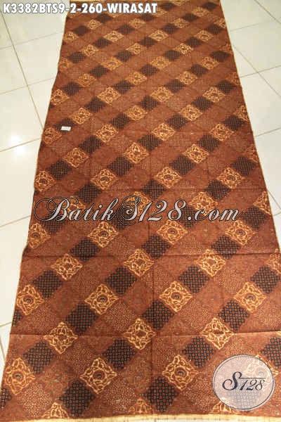 Batik Jarik Elegan Mewah Motif Wirasat, Batik Kain Istimewa Buatan Solo Proses Kombinasi Tulis Soga, Pas Untuk Acara Adat