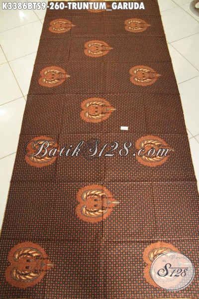 Batik Kain Solo Halus Mewah Berkelas, Batik Jarik Istimewa Motif Truntum Garuda Proses Kombinasi Tulis, Pas Banget Untuk Acara Adat Khas Jawa Tengah