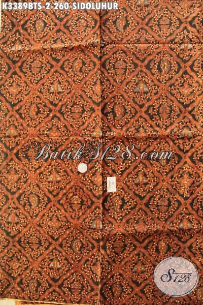 Batik Jarik Solo Nan Istimewa, Batik Jawa Tengah Kwalitas Bagus Dan Adem, Batik Jarik Premium Kombinasi Tulis Soga Motif Sidoluhur Harga Terjangkau