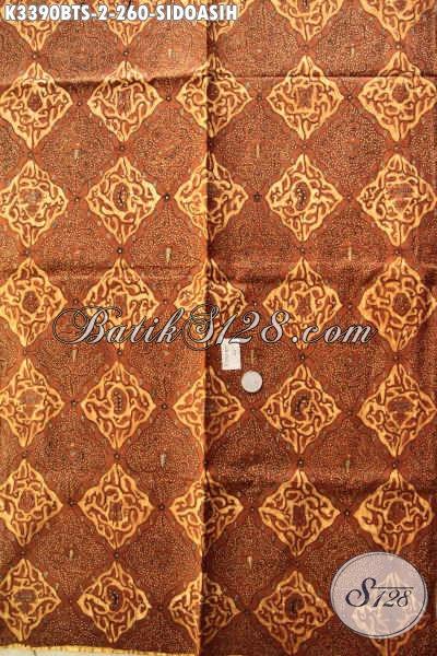 Kain Batik Solo Klasik, Batik Kain Motif Sidoasih Nan Halus Dan Adem Proses Kombinasi Tulis, Cocok Banget Untuk Jarik