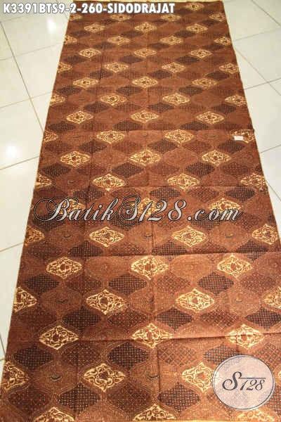 Batik Jarik Klasik Motif Sidodrajat, Batik Elegan Mewah Proses Kombinasi Tulis Soga Untuk Acara Formal Dan Adat [K3391BTS-240x105cm]