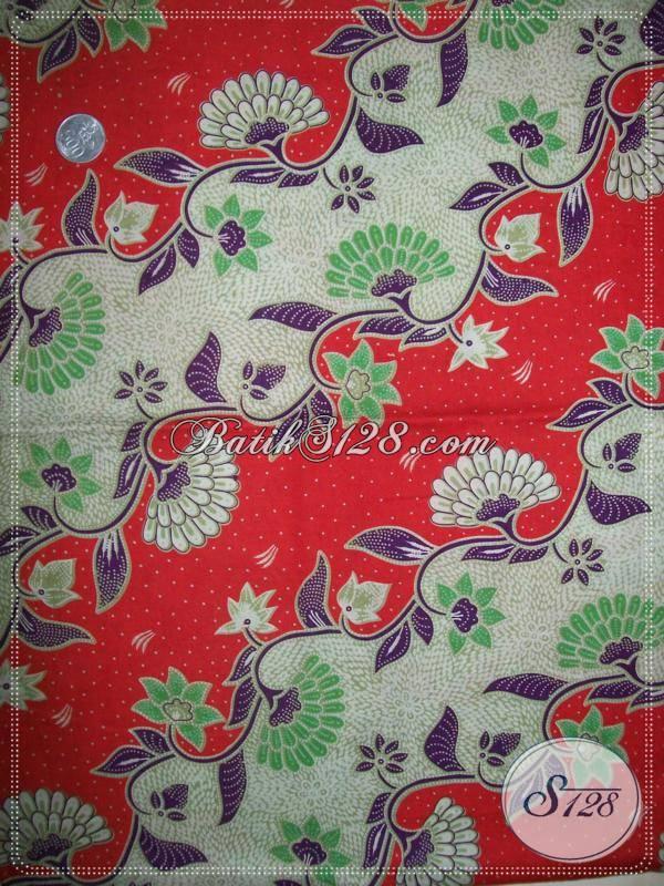 Bahan Batik Motif Elegan Dan Warna Cerah [K808P]