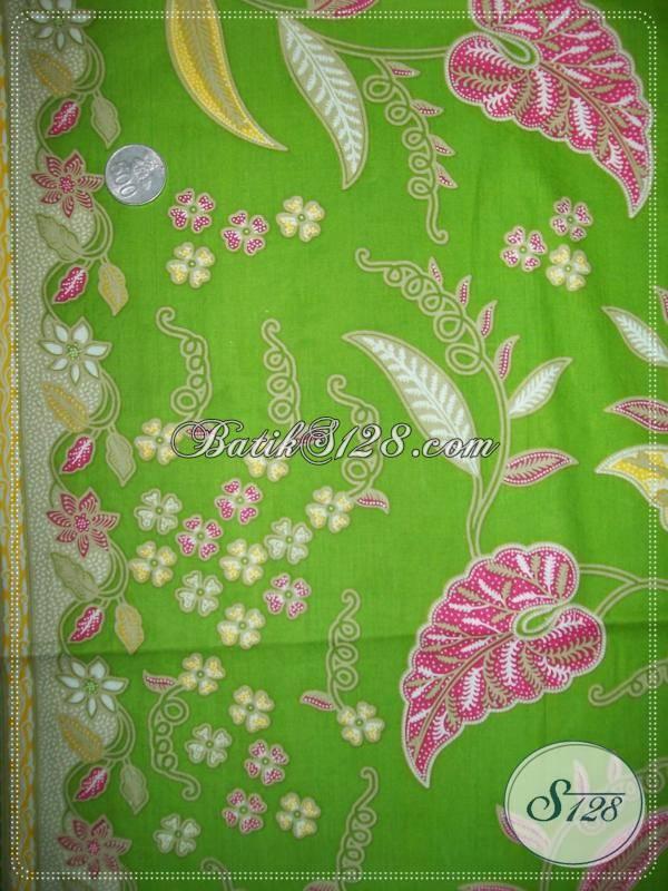 Batik Motif Daun Talas Warna HijauButik Batik Murah Aneka Jenis