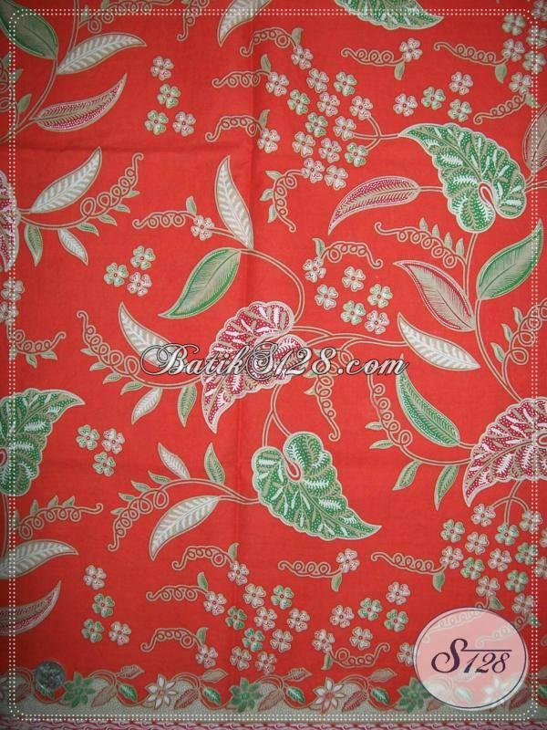 Jual Online kain Batik Asli Solo Motif Dedaunan Trendy Untuk Pakaian Kerja KaryawanWanita
