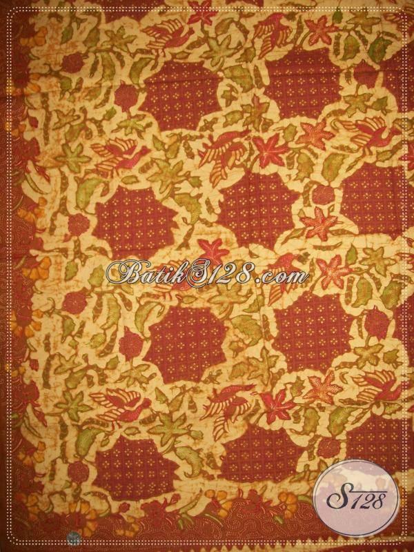 Beli Batik Tulis Corak Burung Dan Daun, Batik Solo Unik