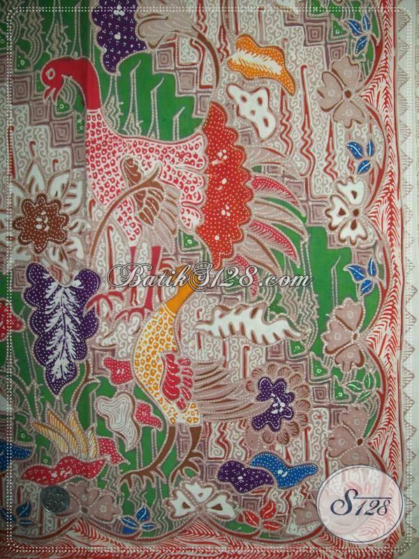 Batik Tulis Mahal, Mewah, Unik, Motif Burung / Ayam, Asli Batik Solo Dijual Online
