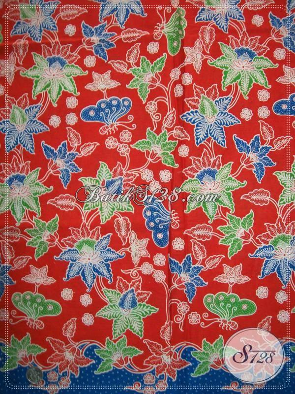 Kain Batik Motif Bunga,Kain BAtik Cantik Asli BAtik Pengrajin Dari Solo [K906P]