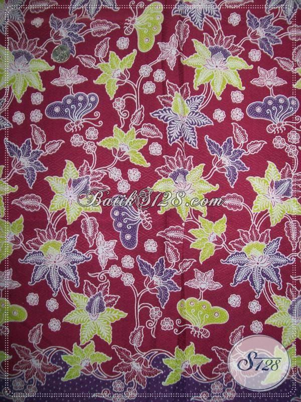 Batik Halus Kain Doby,Warna Cerah Dan Batik Elegan,Bahan BAtik Motif Terbaru [K915PD]