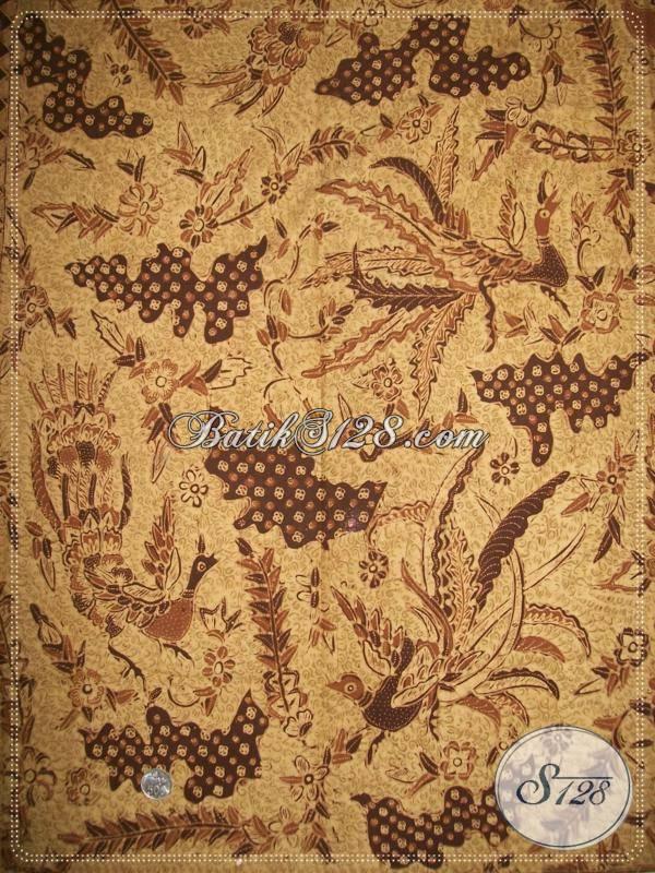 Bahan Batik Tulis Premium, Kain Batik Untuk Kemeja Hem Pria Motif Burung Merak, Cocok Juga Untuk Koleksi