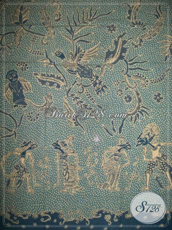 Batik Tulis Pewarna Alami Motif Gabah Mawut (Butir Padi Berantakan)/ Wayang, Kain batik Bahan Busana Mewah Trendy Berkelas