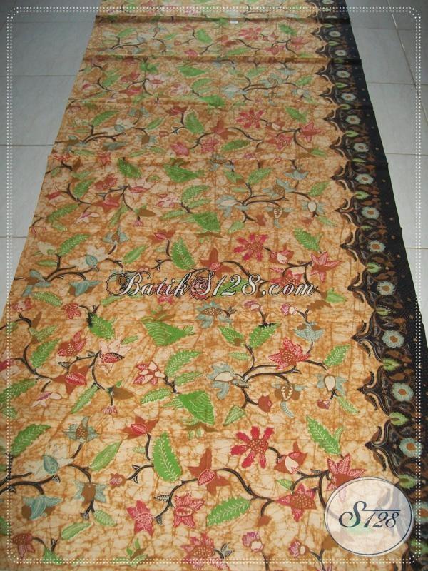 Kain Batik Tulis Halus Motif Floral,Batik Tulis Untuk Busana Batik Para Pejabat [K971T]