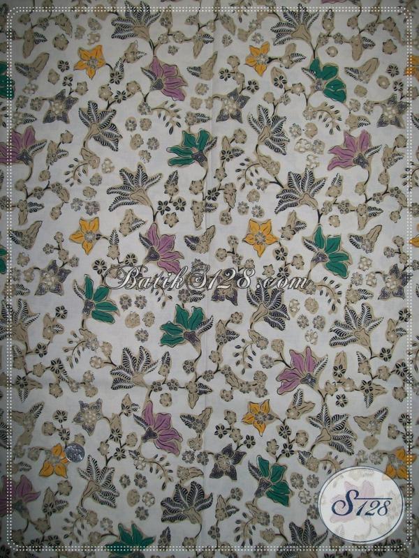Batik Motif Floral,Batik Trendy,Kain Batik Fashionable [K998BT]